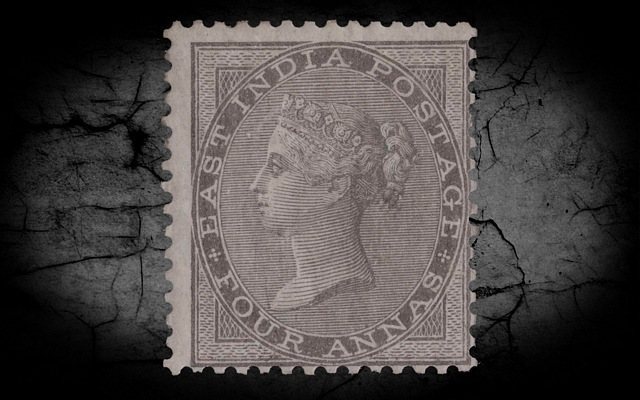 India DLR QV 1856-64 SG46 4a Grey-black w/Cert LMM CV£900++